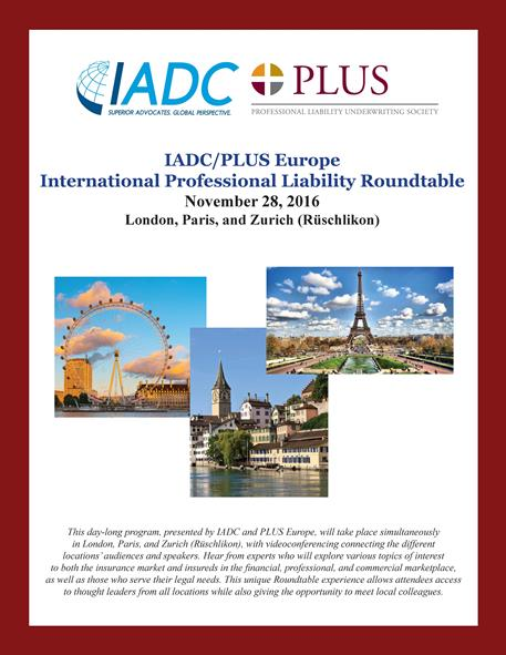 2016_International_Professional_Liability_Roundtable_Program